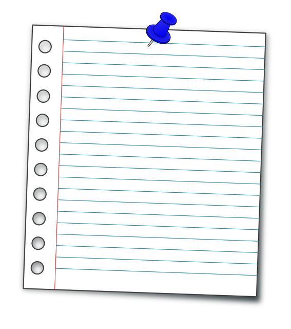 Notes page png. Block image