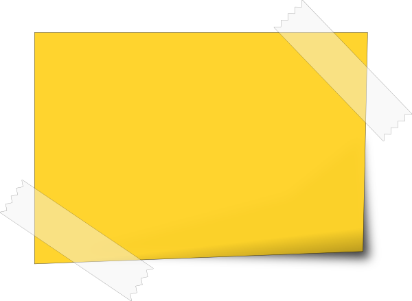 Notes page png. Sticky note
