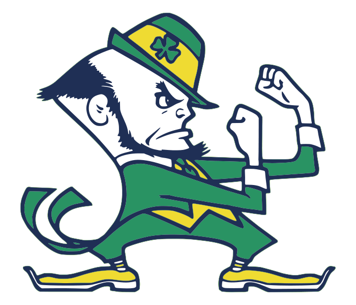 Notre dame leprechaun png. Dames fighting irish mascot