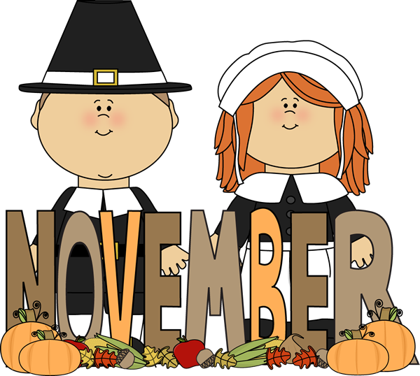 november clipart november word
