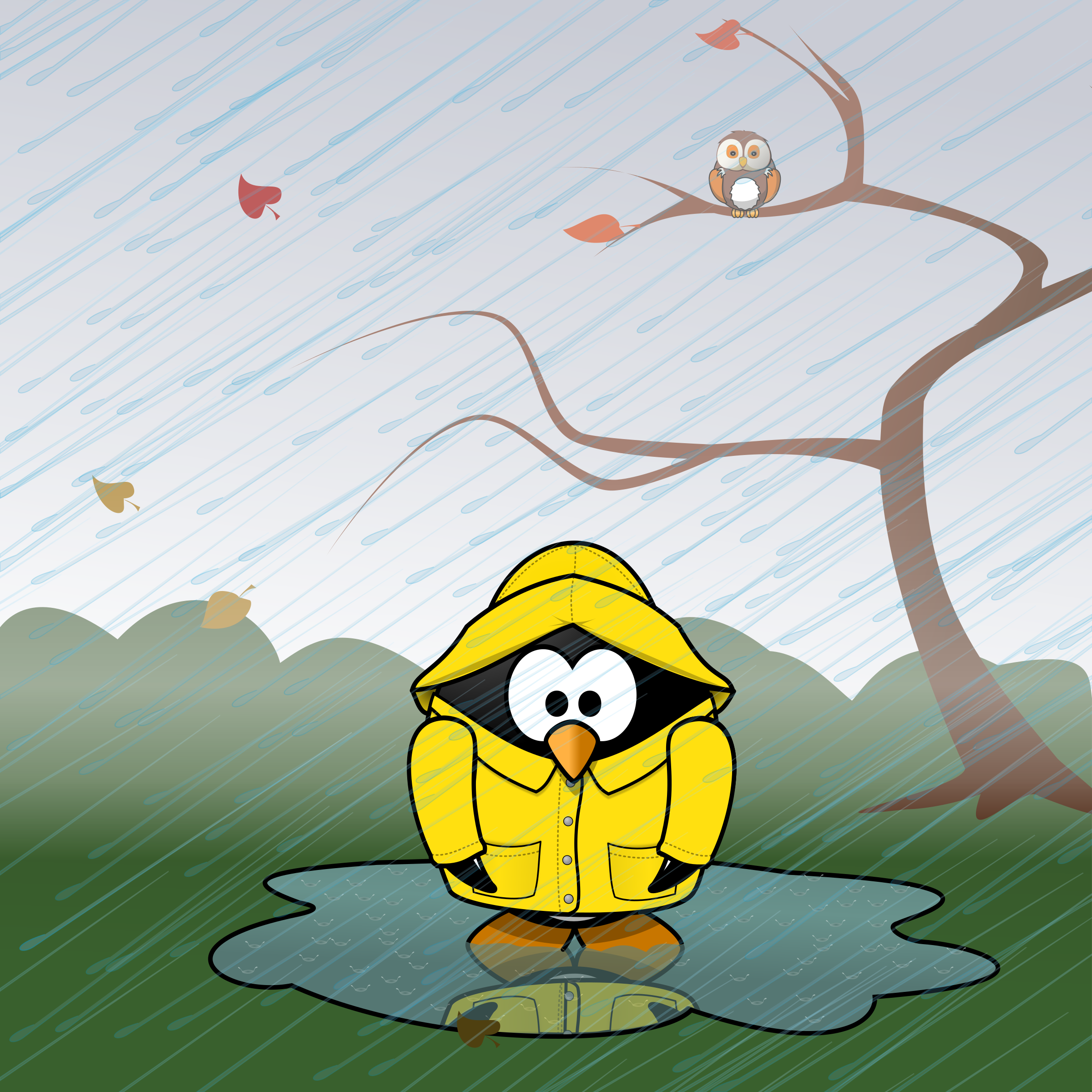 November clipart. Calendar page weather proofing
