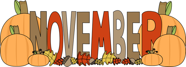 November clipart november word. Free