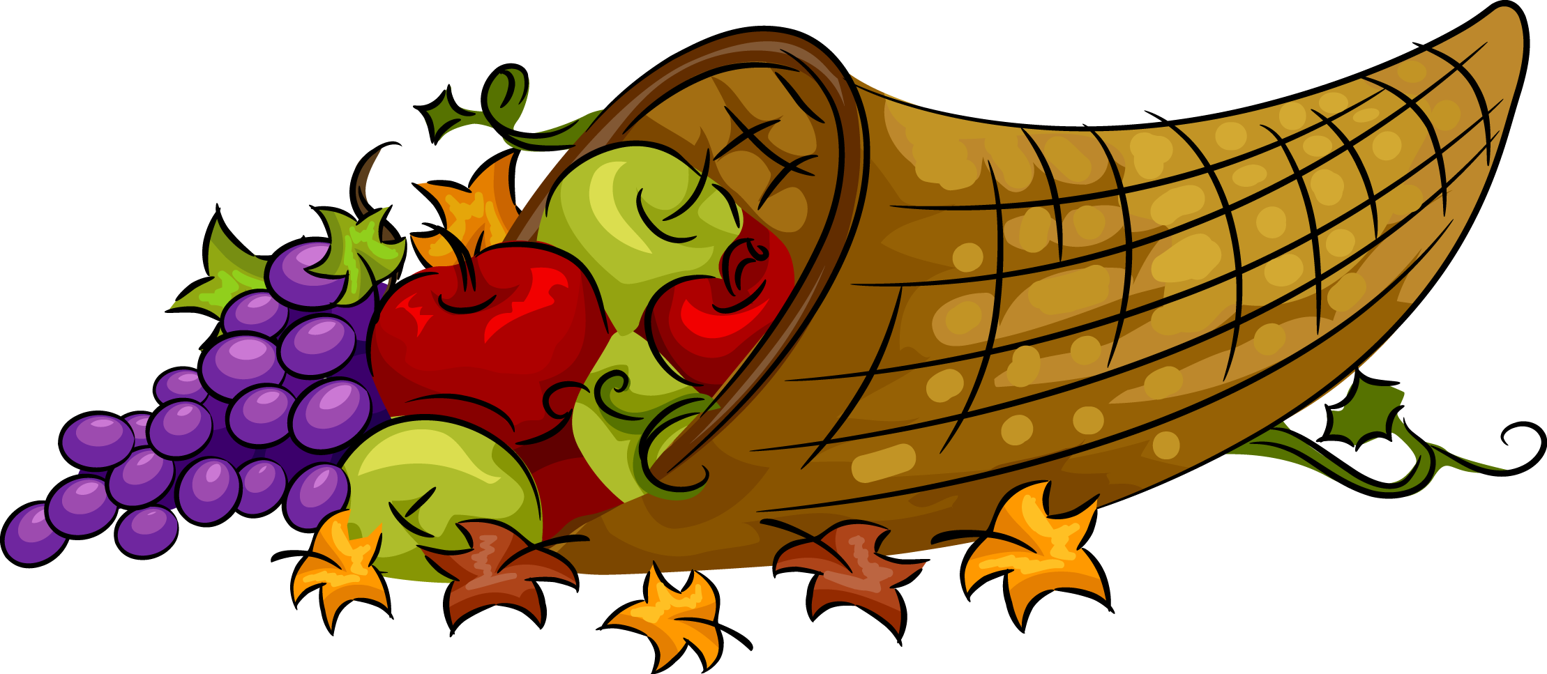 Feast drawing cornucopia. Thanksgiving clipart at getdrawings