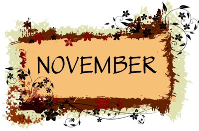 November clipart service. Themes free template