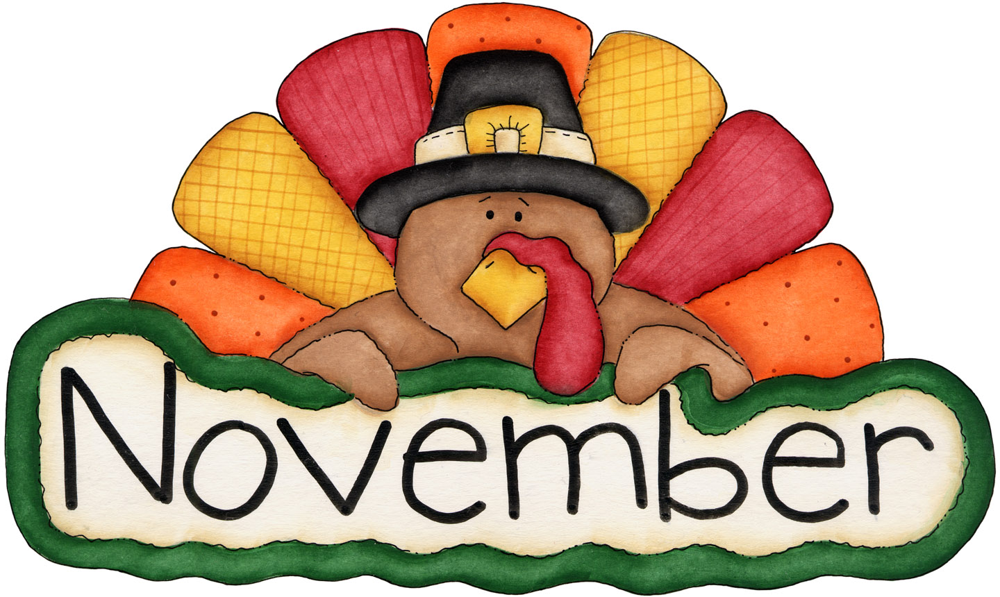 November clipart november themed. Free clip art for