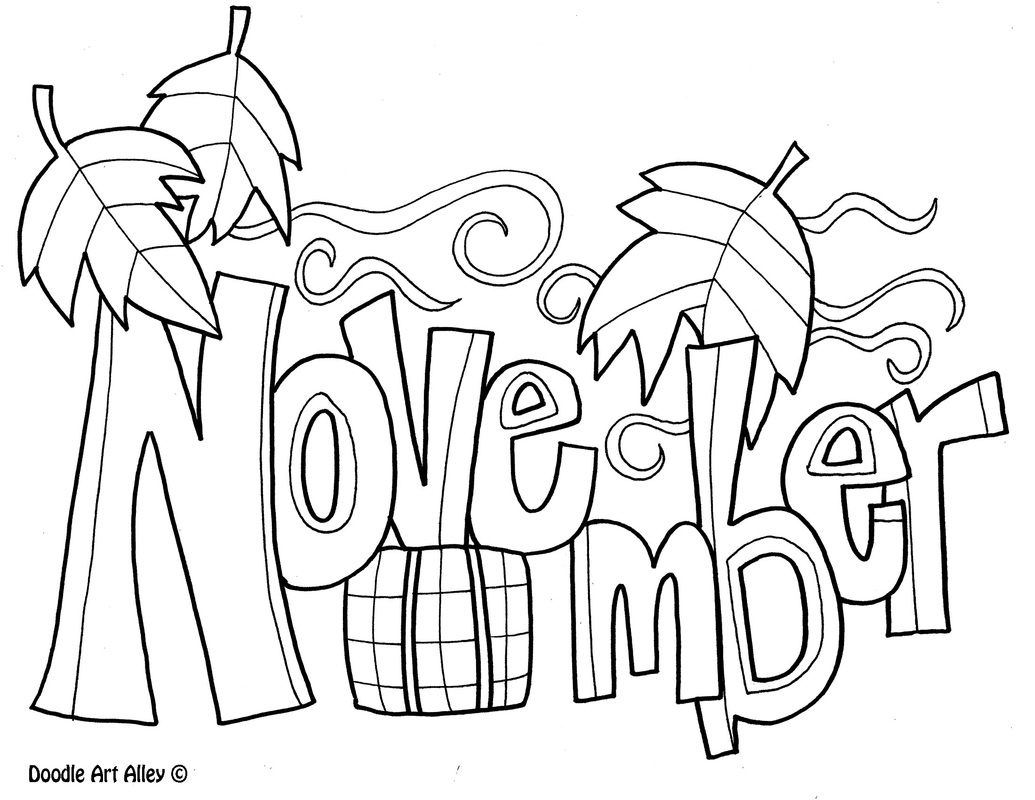 November clipart november themed. Coloring pages free celebrations