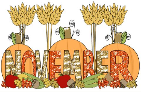 November clipart november word. Best month clip art