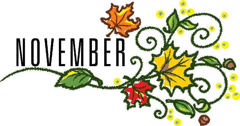November clipart november word. Efan monthly meeting agenda