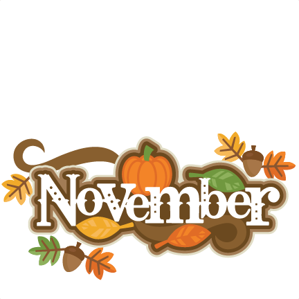November clipart service. Crossword for download