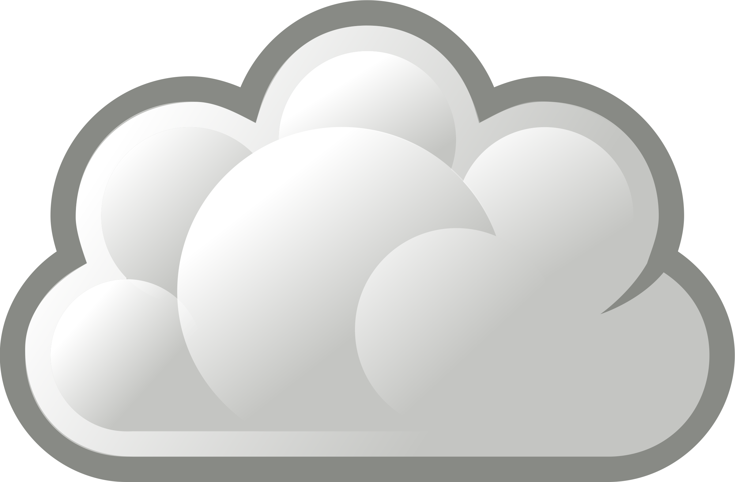 Nubes caricatura png. Clipart stylized basic cloud