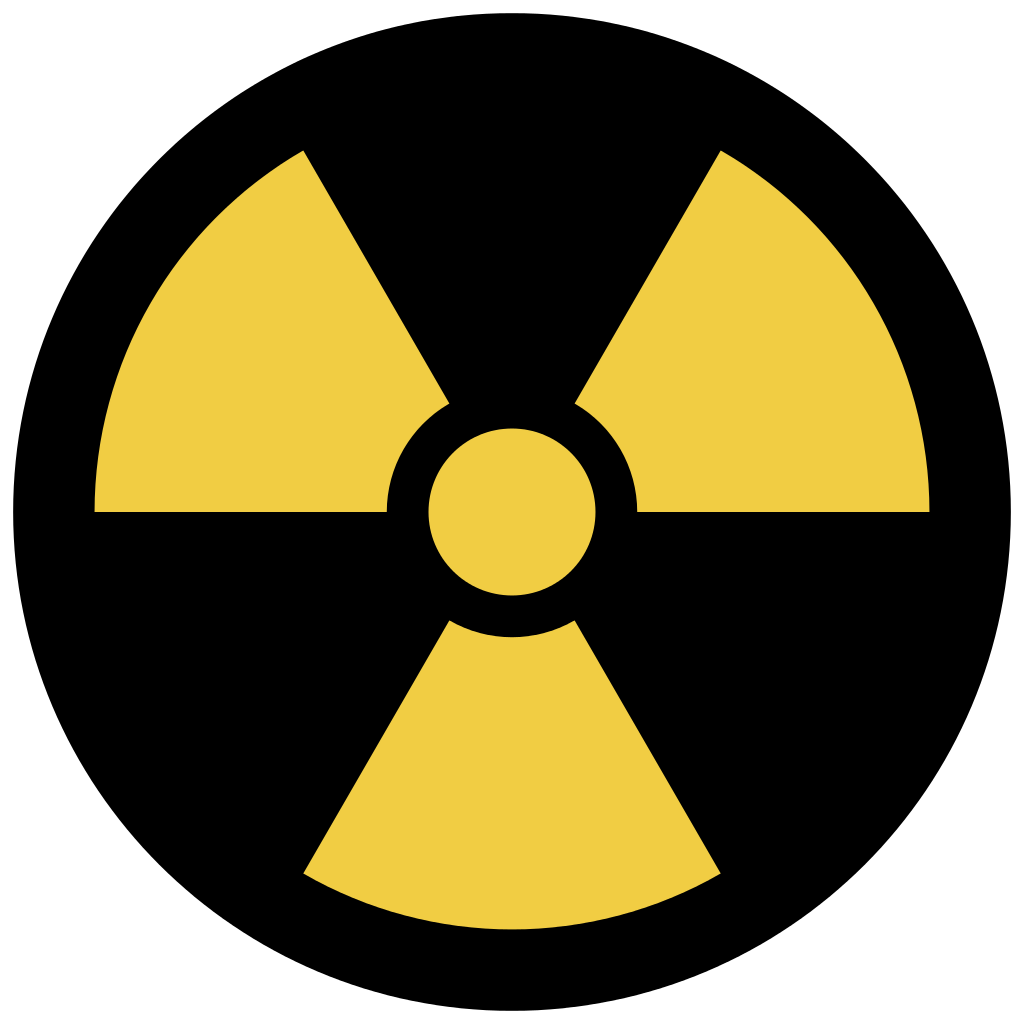 Sign svg radiation