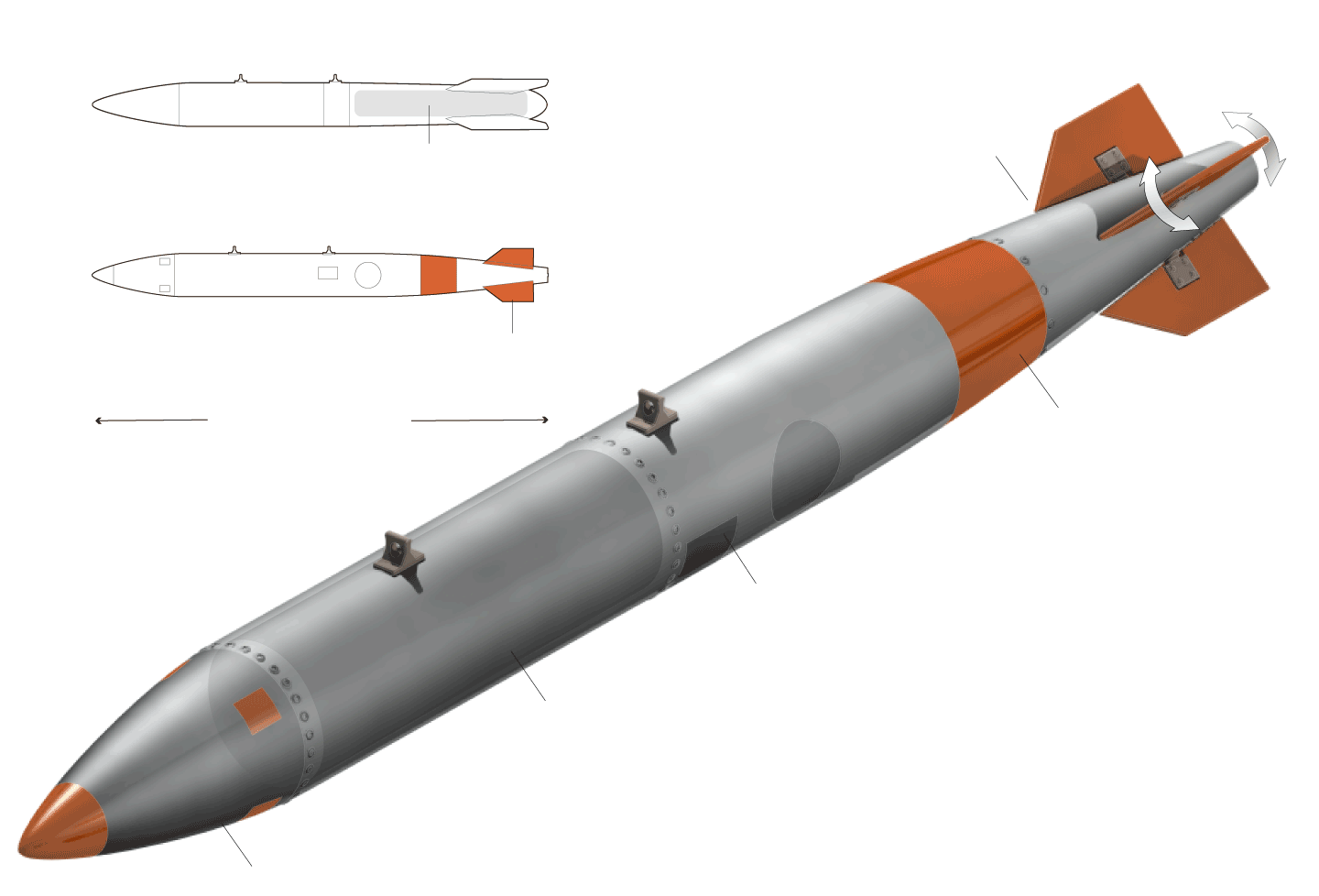 Nuclear drawing missile. Png transparent images all