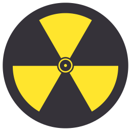Nuclear drawing danger. Icon myiconfinder