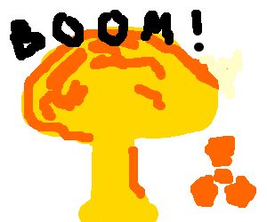 Nuclear drawing explosion. By thomas drawception