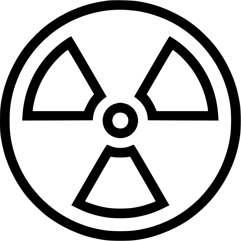 Nuclear drawing line. Computer icons weapon power