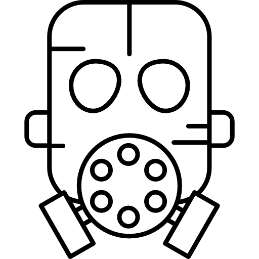 Radiation drawing gas mask. Free icons icon