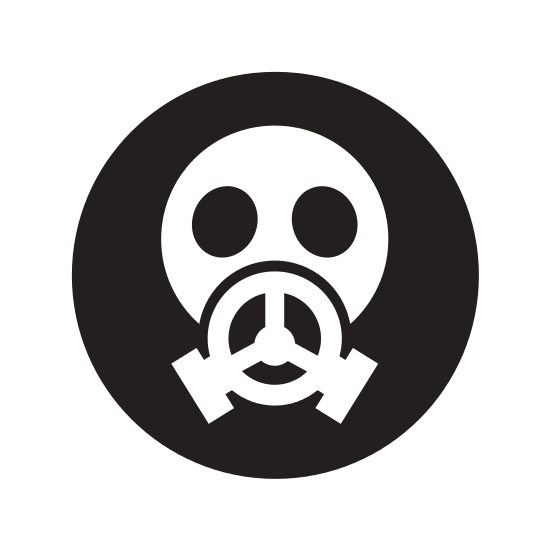 Nuclear drawing mask. Safety icon icons by