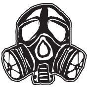 Nuclear drawing mask. Atom science gift men