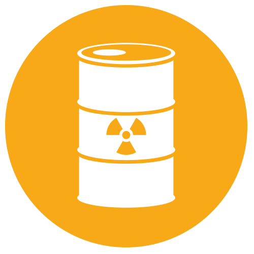 Nuclear drawing radioactive waste. L business consulting ltd