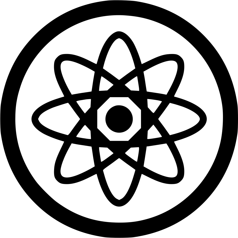 Nuclear drawing science. Atomic atom molecule svg