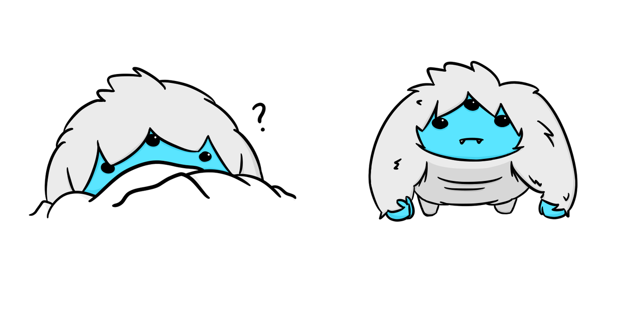 Nuclear drawing throne. Yeti doodles by fragile