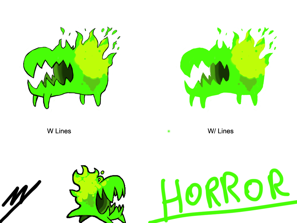 Nuclear drawing throne. Moni draws horror by