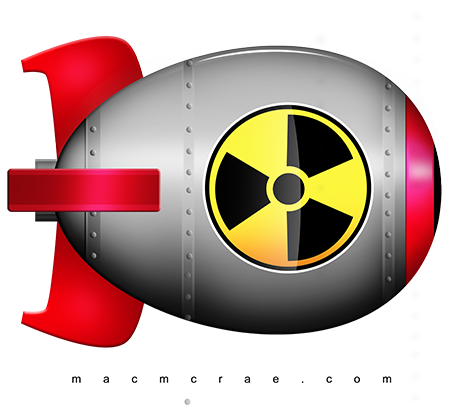 Nuclear drawing artwork. Free cliparts bomb download