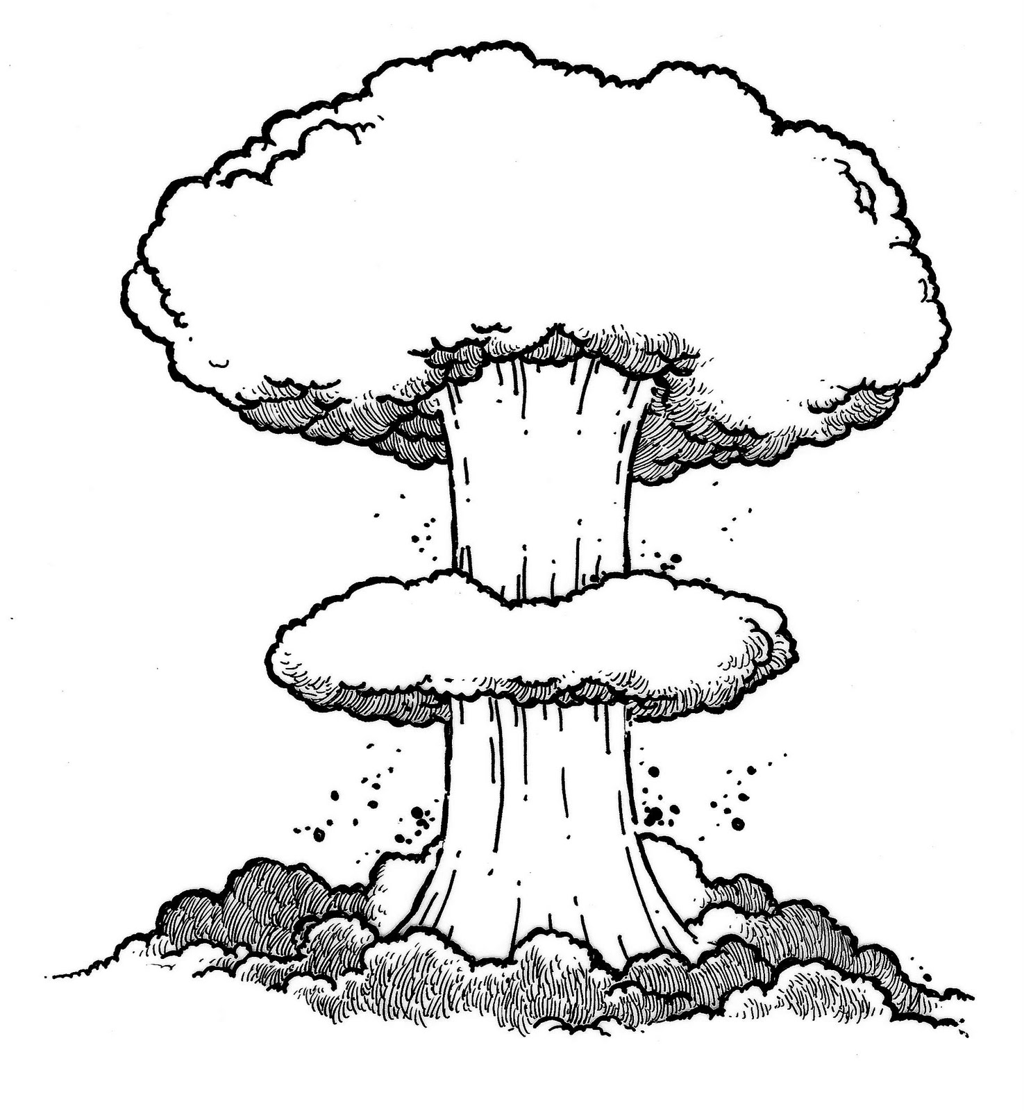 Nuke clipart atomic bomb. Nuclear drawing at getdrawings