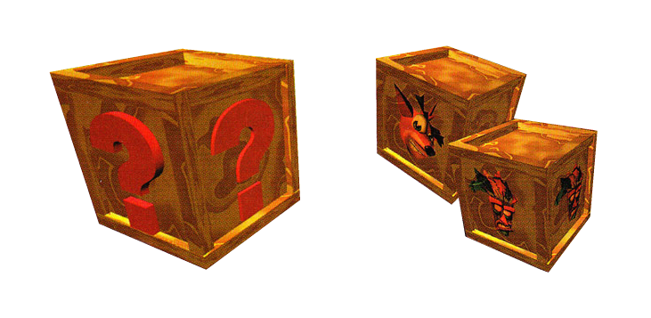 Number 1 crate png. Crash bandicoot crates by