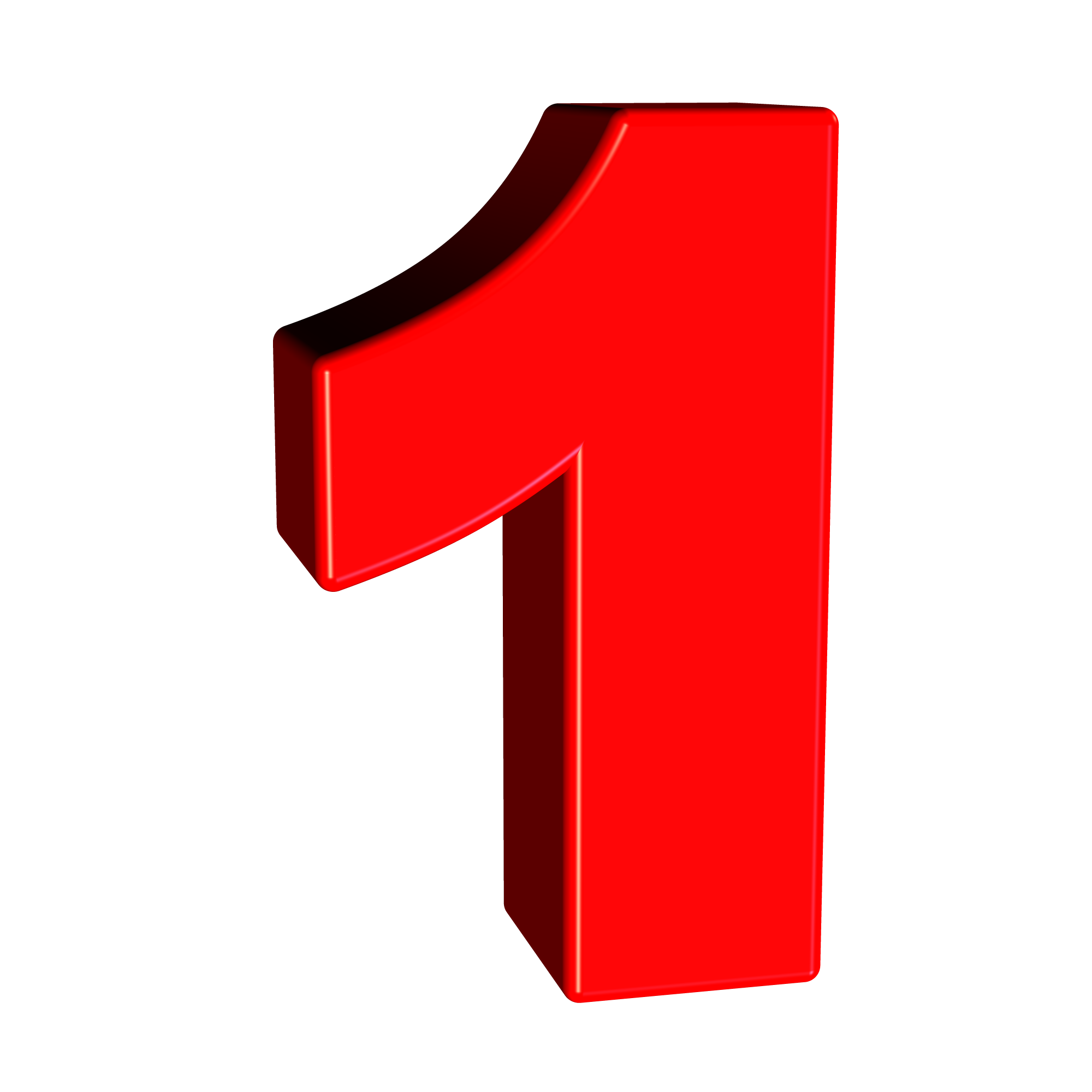 Number 1 png image. Red free stock photo
