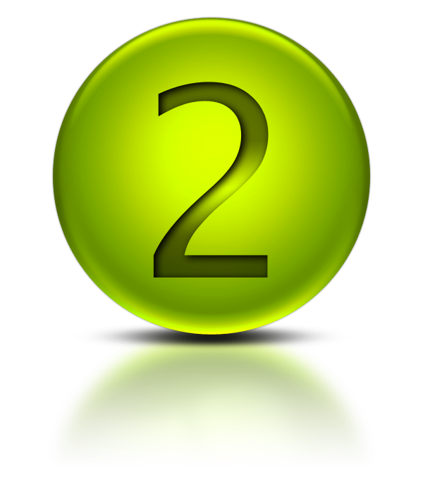Number 2 3d png. Two icons vector free