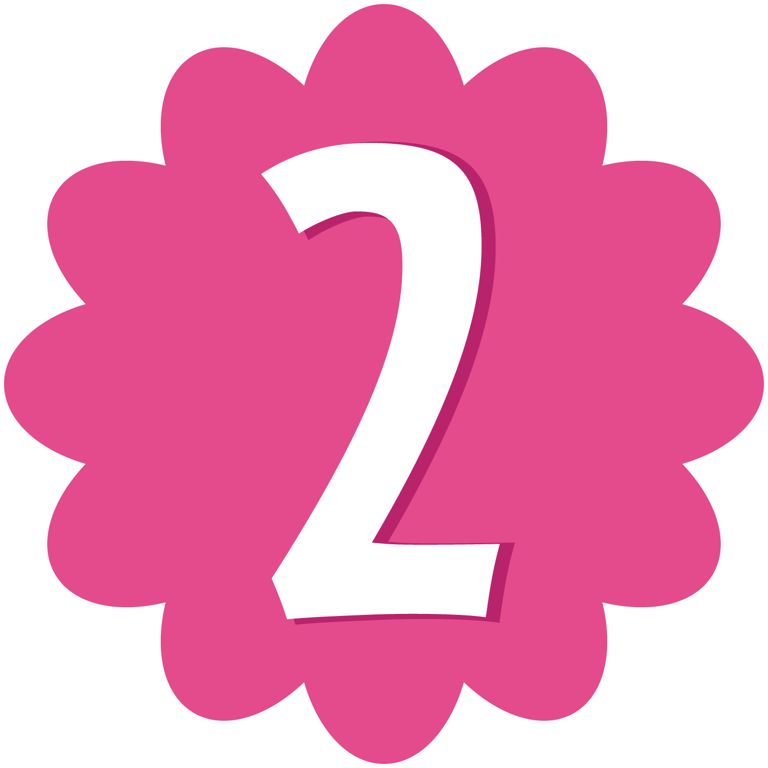 Numero 3 rosa png. Free birthday cliparts number