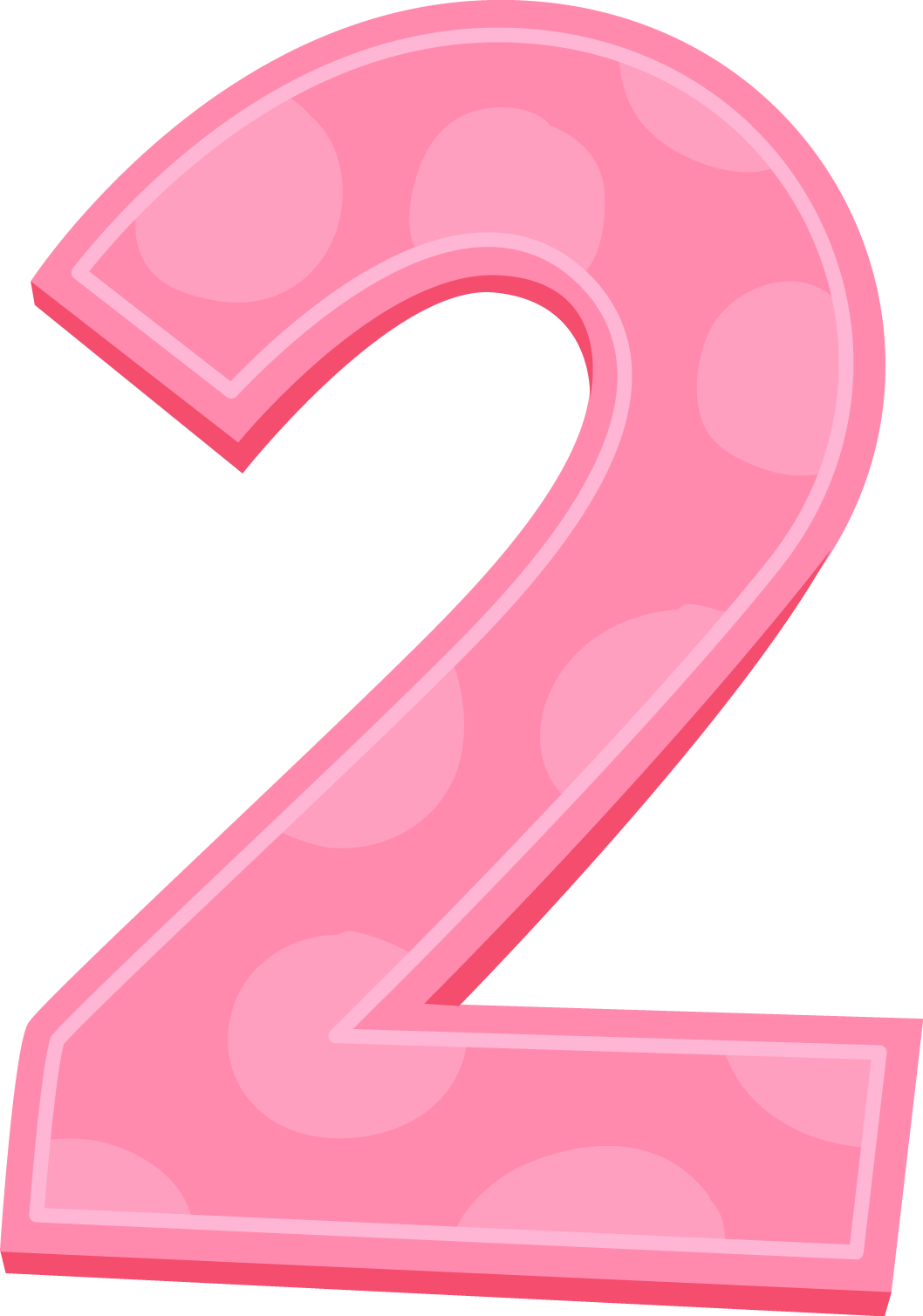 Number 2 birthday png. Collection of pink