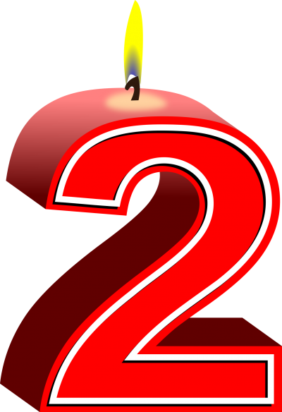 Number 2 birthday png. Download candles free transparent image black and white