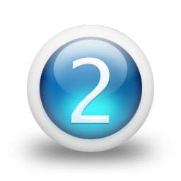 Number 2 icon png. Blue free icons and