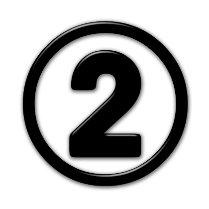 Number 2 icon png. Black free icons and