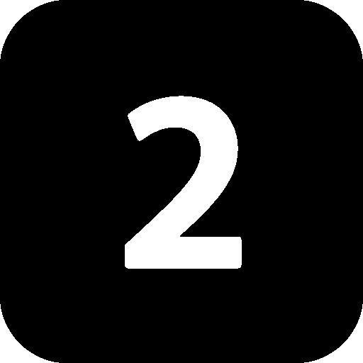 Number 2 png. Numbers black icon windows