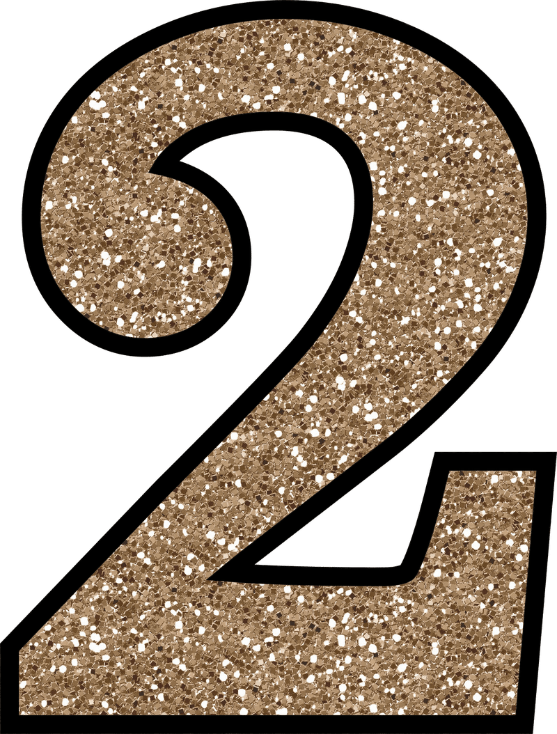 Number 2 to 9 cards png. Glitter without the mess