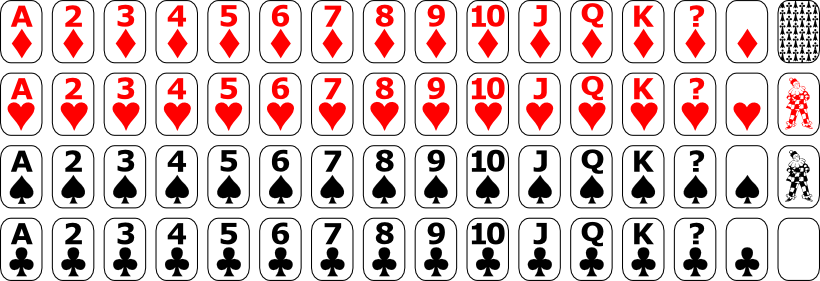 Full deck of cards png. Mini svg playing card