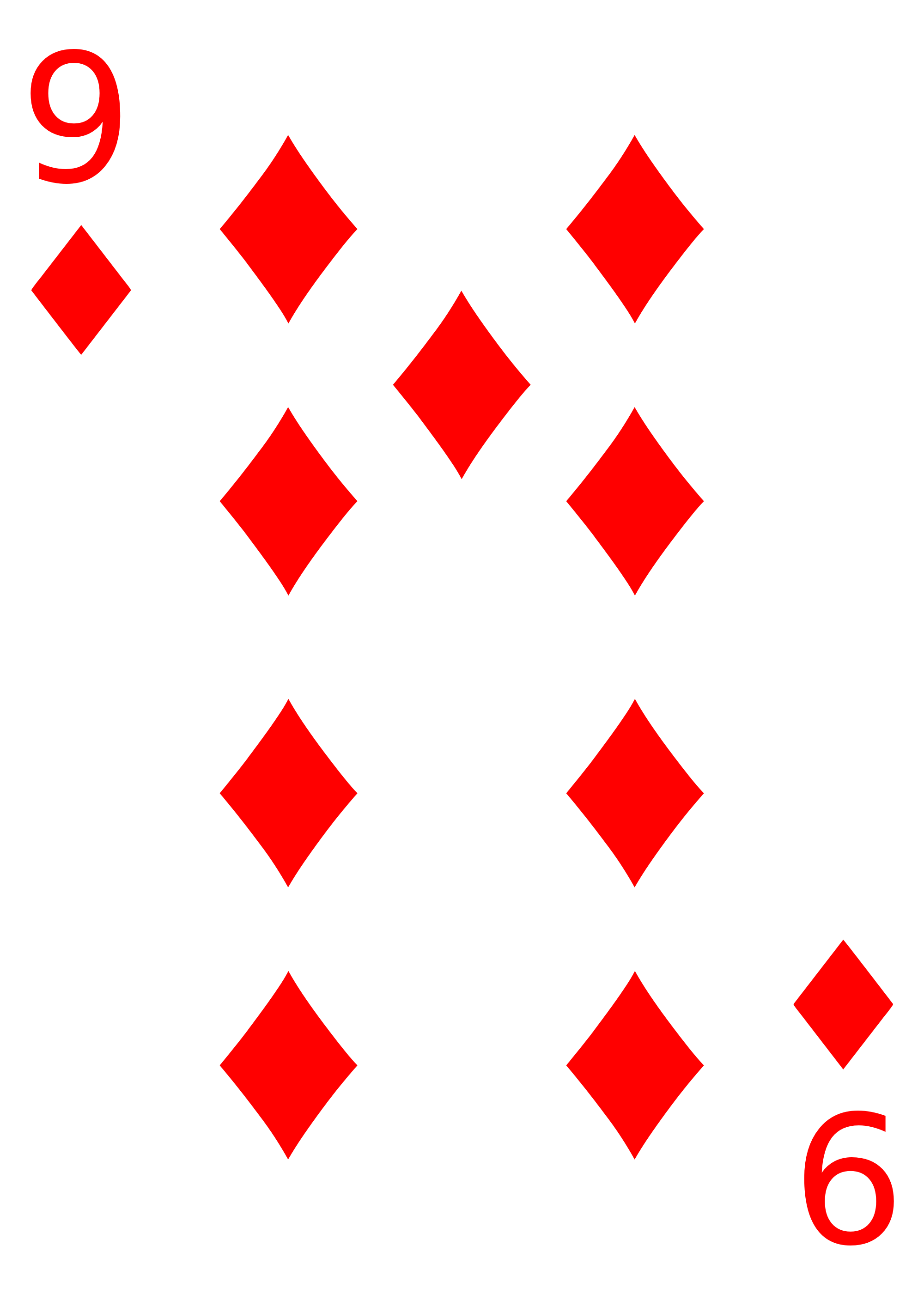 Number 2 to 9 cards png. File diamond svg wikimedia