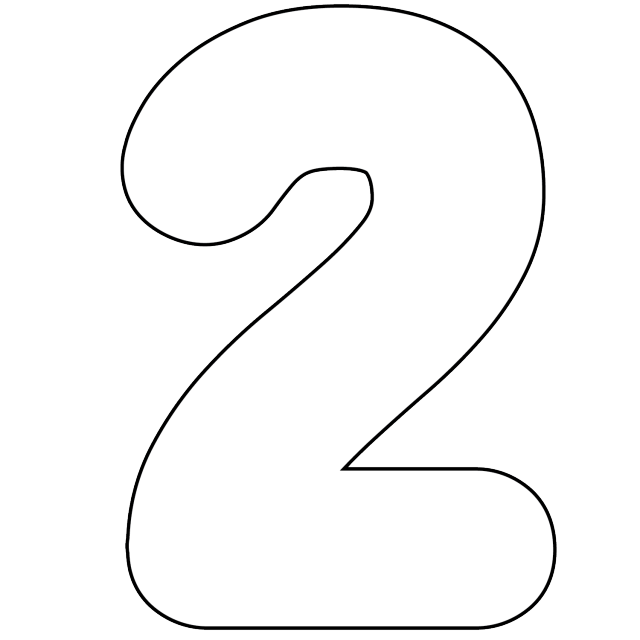 number 2 white png #60197176