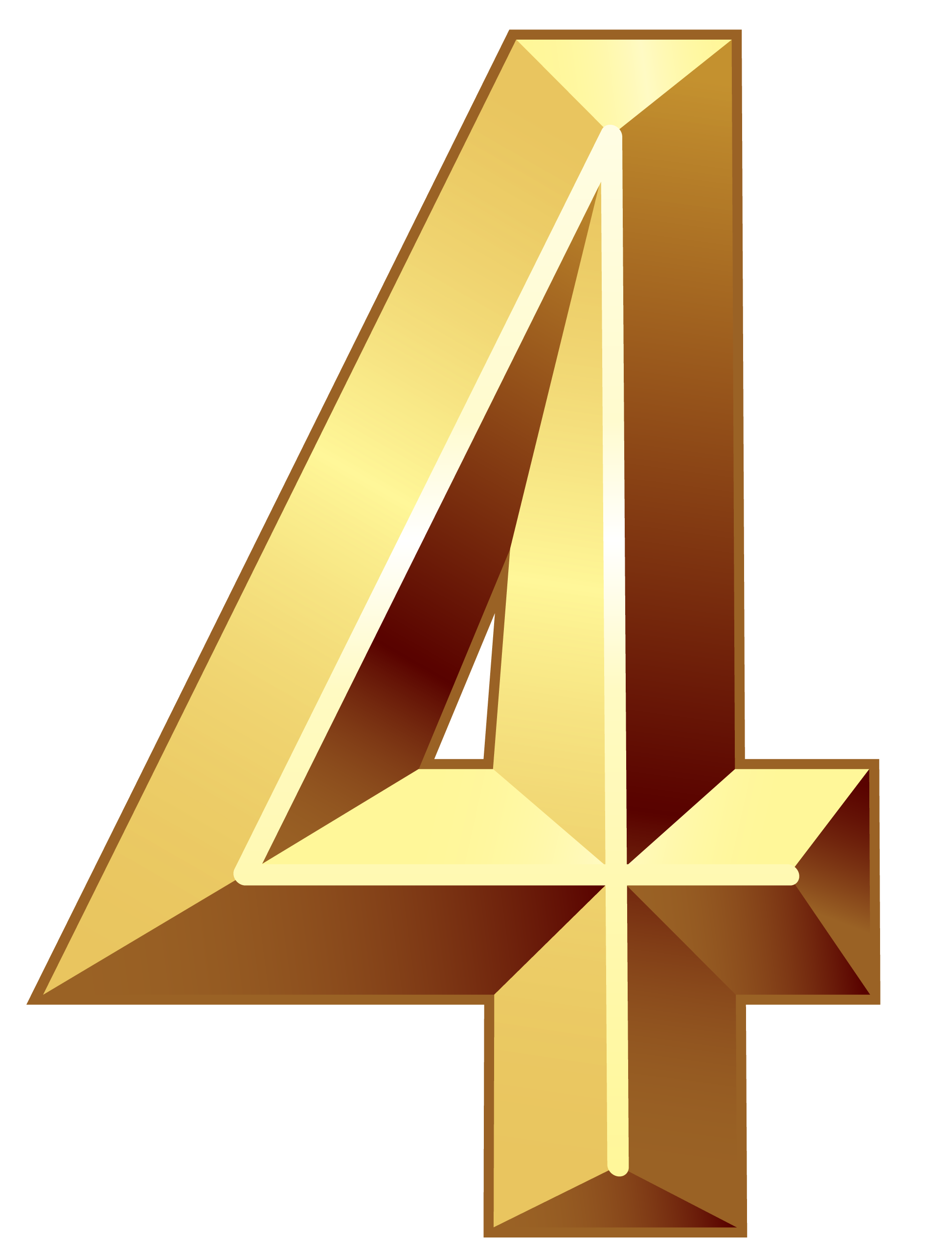 4 transparent four. Number free png images