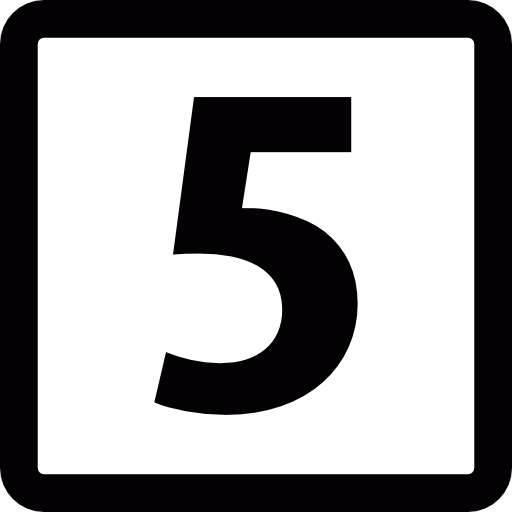 number 5 icon png