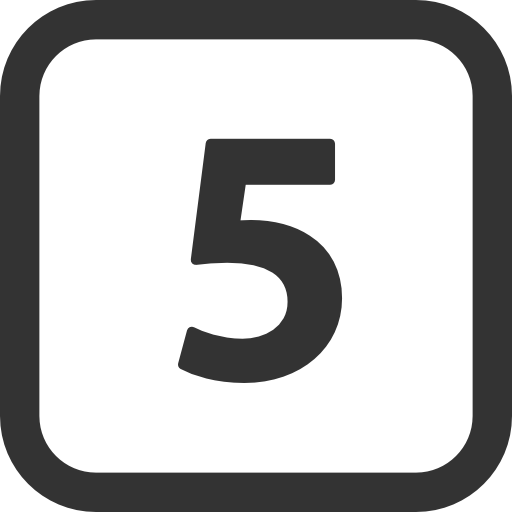 Number 5 png. Numbers icon free icons