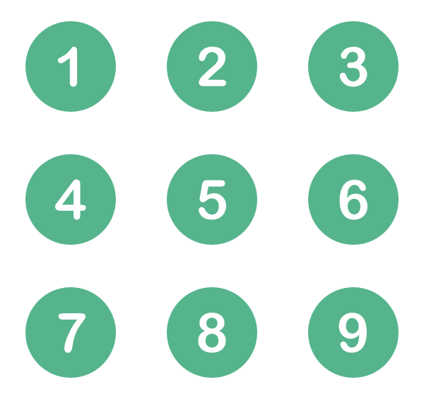 Number buttons png. Alerts free icons svg
