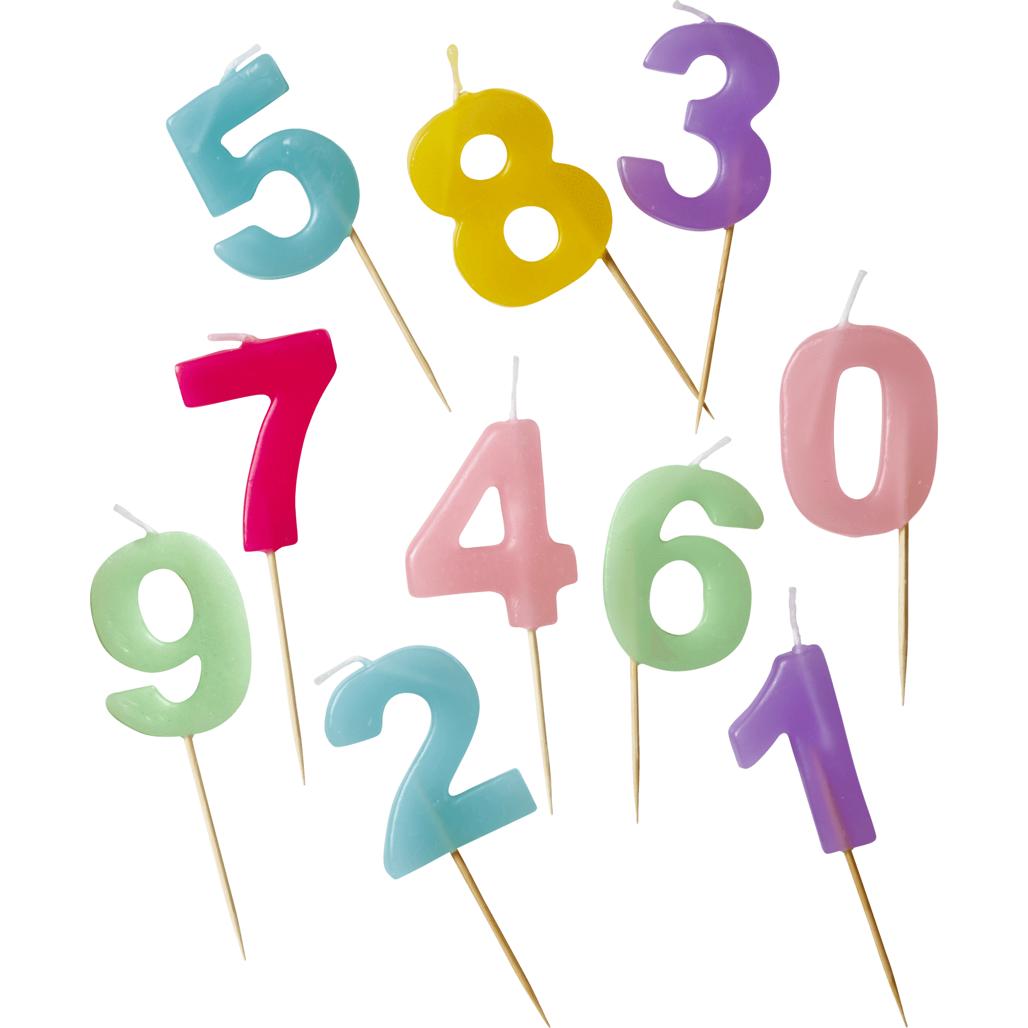 Number candles png. Assorted coucou