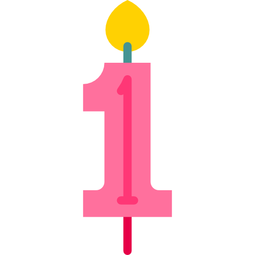Number candles png. Illumination birthday and party
