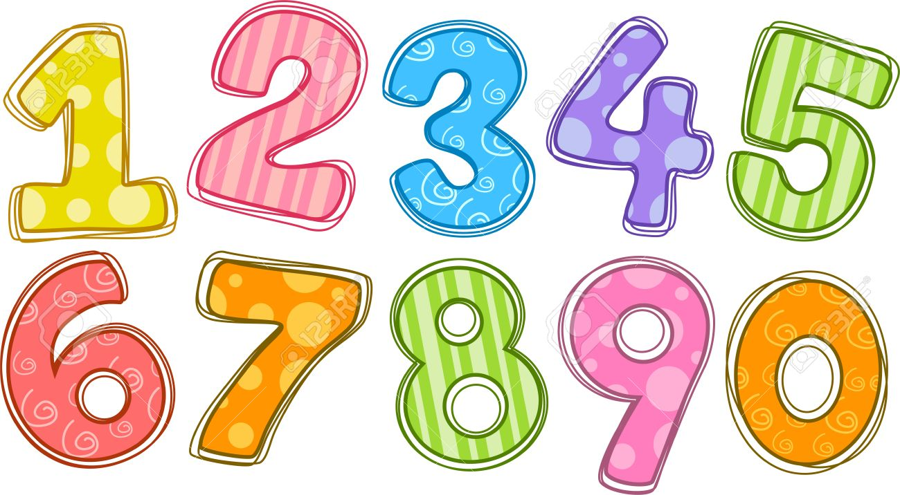 Number clipart. Free list cliparts download