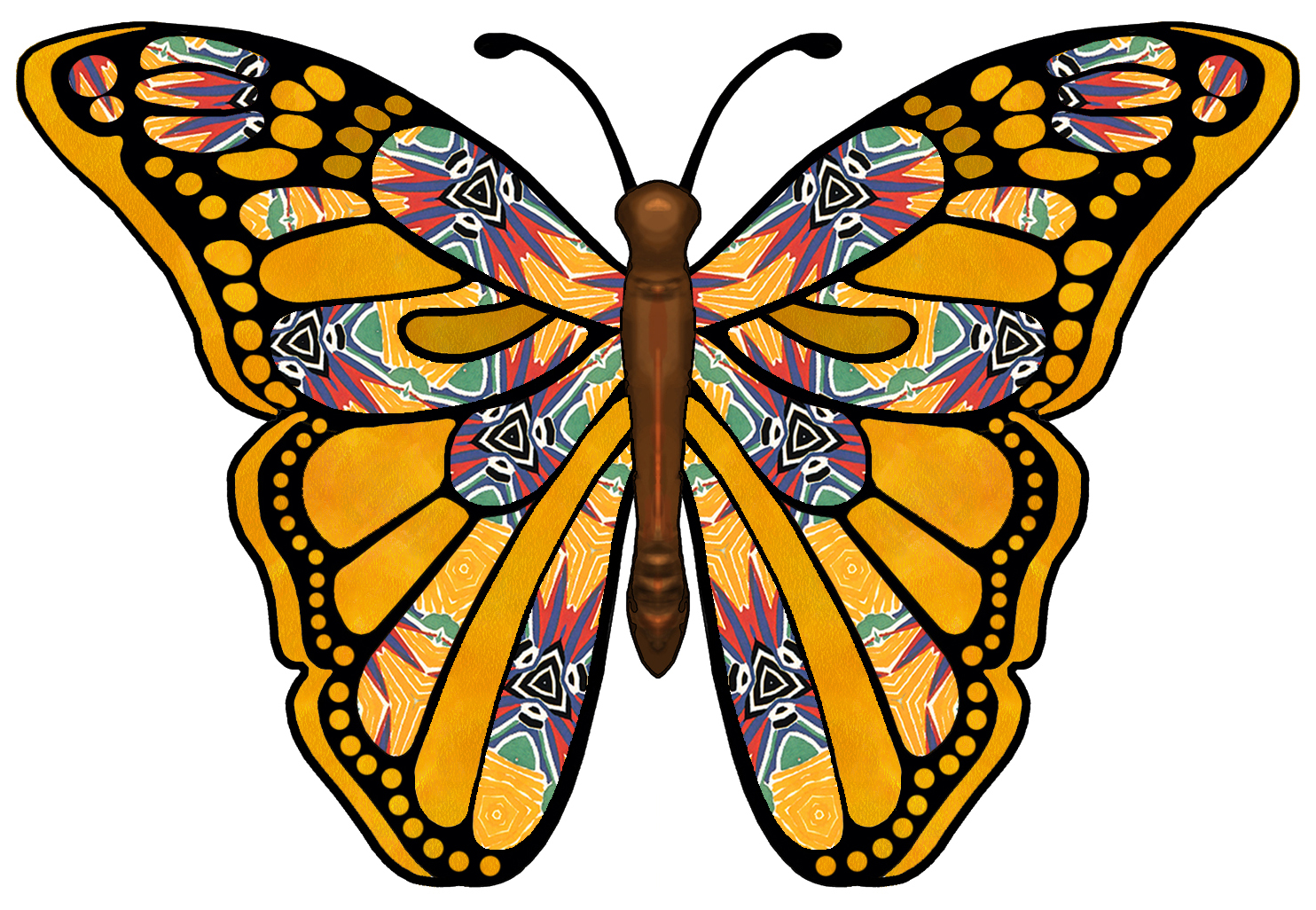 Number clipart butterfly. Flowers and butterflies at