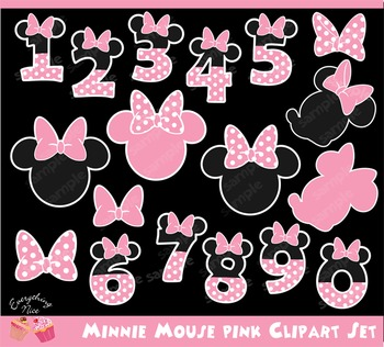 Number clipart minnie mouse. Teaching resources teachers pay